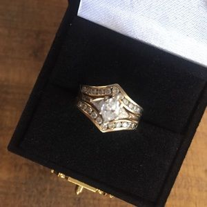Authentic 1.25 ct TW diamond and 14k gold ring